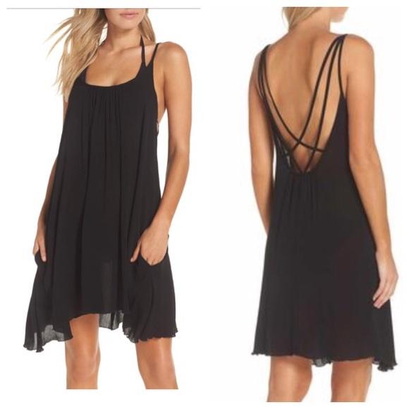 bd192e2b4e Elan Swim | Nwt Strappy Slip Dress Cover Up Black Large | Poshmark